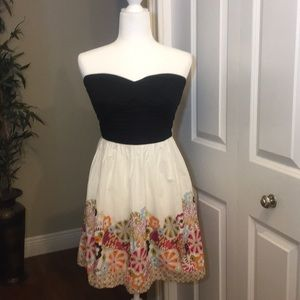 Trixxi Black and white colorful floral dress